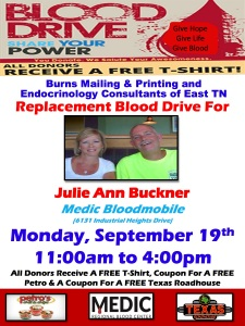 Burns Mailing & Printing Flyer- Julie Buckner